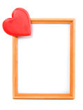 The heart of the picture frame Royalty Free Stock Photo