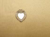 Heart Picture Frame hanging on wall Royalty Free Stock Photo