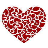 Heart In Pieces. An illustration of a heart, made with small abstract shapes Royalty Free Stock Images