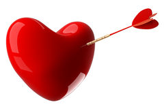 Heart pierced by an arrow. Royalty Free Stock Image