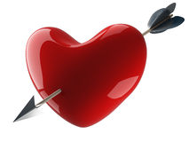 Heart pierced by an arrow. Stock Photography