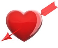 Heart pierced by an arrow Royalty Free Stock Photography