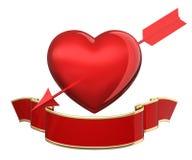 Heart pierced arrows Stock Image