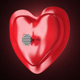 Heart pierced by a nail Royalty Free Stock Images