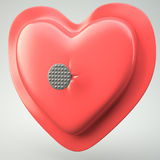 Heart pierced by a nail Royalty Free Stock Photography