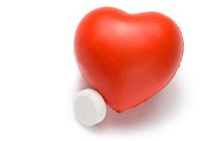 Heart and pill Royalty Free Stock Image
