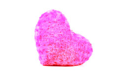 Heart pillow. Beautiful shot of heart pillow on white background Royalty Free Stock Photos