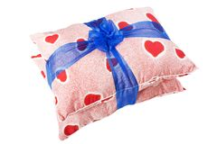 Heart pillow gift Royalty Free Stock Images