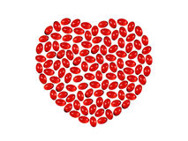 Heart from pills Royalty Free Stock Photos
