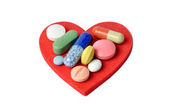 Heart and Pills Royalty Free Stock Photos