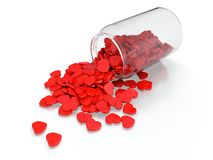 Heart pills Stock Image