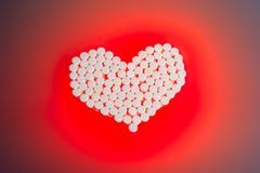 Heart pills stock photos