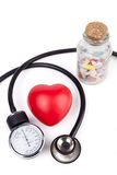 Heart and Pills Stock Photography