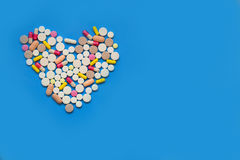 Heart of pills. Royalty Free Stock Image