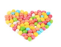 Heart of pills in color glaze. Royalty Free Stock Photo