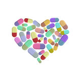 Heart pills.  Royalty Free Stock Image
