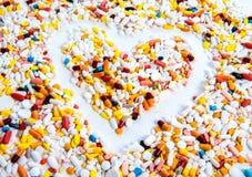 Heart of pills Stock Photo
