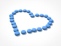 Heart of pills Stock Image