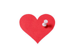 Heart with pin Stock Photo