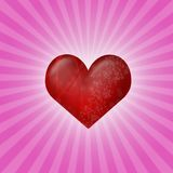 Heart on pink Stock Photos