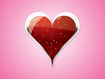 Heart on Pink background Royalty Free Stock Image
