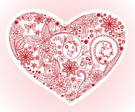 Heart on a pink background Stock Photography