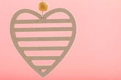 Heart on pink background Royalty Free Stock Photo