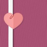 Heart on a pink background Stock Photos
