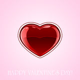 Heart on pink background Royalty Free Stock Photos