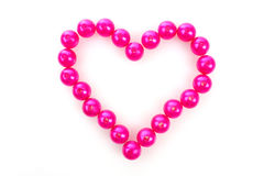 Heart from pink beads Stock Images