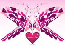 heart on pink color valentine's day Royalty Free Stock Photography
