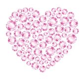Heart of pink diamonds Stock Image