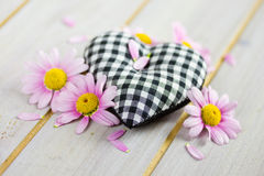 Heart with pink flowers Royalty Free Stock Photo