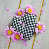 Heart with pink flowers Royalty Free Stock Images