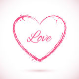 Heart-pink-frame Royalty Free Stock Image