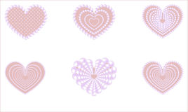 Heart is pink glamourous. Pink glamourous heart with a pearl beads Royalty Free Stock Images