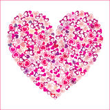 Heart of pink hearts Stock Images