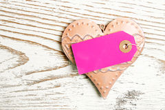 Heart pink label Royalty Free Stock Photos