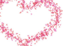 HEART OF PINK LEAVES Royalty Free Stock Photos