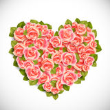 Heart of pink roses Royalty Free Stock Images