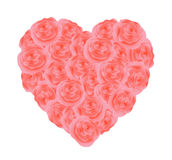 Heart of pink roses. Stock Photography