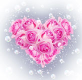 Heart of pink roses Royalty Free Stock Photos