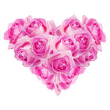 Heart of pink roses Royalty Free Stock Photo
