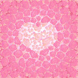 Heart with pink roses Stock Photos
