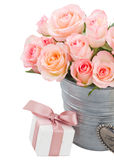 Heart with pink roses Royalty Free Stock Photos