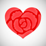 Heart of pink roses. Royalty Free Stock Photo