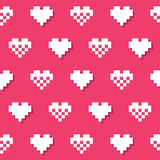 Heart pink seamless background, pattern Royalty Free Stock Photo