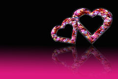 Heart Pink Sequin Royalty Free Stock Photos