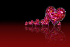 Heart Pink Sequin Royalty Free Stock Images