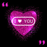 Heart pink vector, Valentines day, love Stock Photos